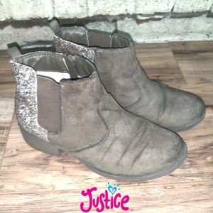 Justice Girl's Suede Ankle Booties, Size 4Y